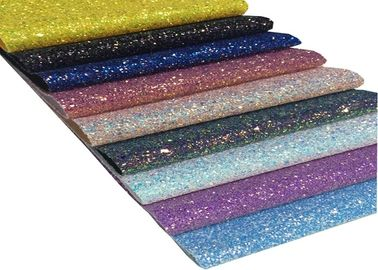 چین A4 Size Glitter Fabric Sheet برای مواد DIY، Chunky Glitter Fabric Sheet کارخانه